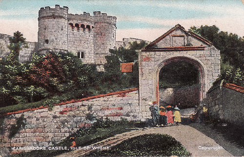 Carisbooke Castle gate 1909